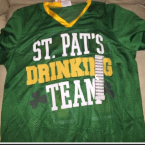 c35d0313 Tops | St Patricks Day Drinking Team Jersey Shirt | Poshmark